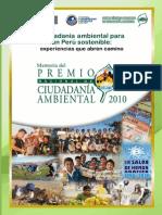 Premio Nacional de Ciudadanía Ambiental 2010