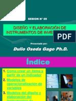 Diseño y Elaboracion de Instrumentos de Investigacion