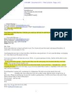 Plainitff's Memorandum Regarding Contempt Exhibit 1, Ara E-mail_ecf