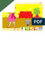 Jogo Vamos Colorir a Menina e o Gatinho_ - Jogos de Pintar