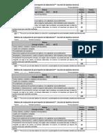 Rúbrica evaluación prerreporte