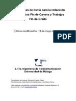 Manual de Estilo Etsit Tfg Tfm Pfc