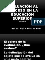 EVALUACIÓN AL PROCESO EN LA EDUCACIÓN SUPERIOR. Unidad 2