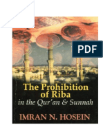 The Prohibition of Riba in Quran and Sunnah