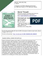 Carroll - Conceptual Model Spirituality