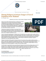 Hmong Refugees in Serious Danger of Forced Expulsion From Thailand | Refugees International
