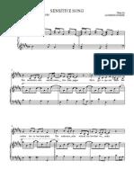 Sensitive Song Sheet Music