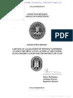 FBI report on witness tampering