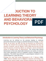 introduction to learning theory and behavioral psychology chap 4