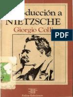 Colli - Introduccion a Nietzsche