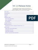 ASP.net Mvc - 1.0 Release Notes