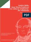 Andrés Bello, Juan María Gutiérrez y las culturas originarias del continente