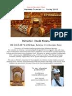 Balinese Gamelan Class Flyer 2015