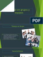 Diferencia entre trabajo en grupo y trabajo en equipo