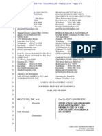 Oracle-SAP Stipulation and Proposed Judgment