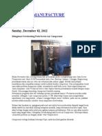 Perawatan Compressor Atlas Copco