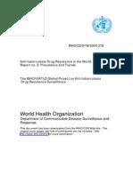 Anti TB Drug Resistence by WHO