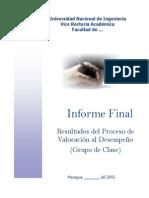 Informe Final Grupo de Clase. Agosto,2012