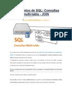 Consultas SQL Multi-tabla JOIN