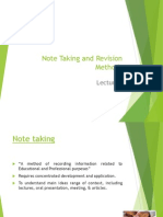 Note Taking and Revision Methods
