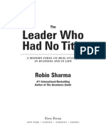 The Leader Who Had No Title Chapter 1