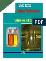 Breakdown in Liquids 2011 Update