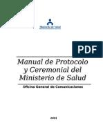 Manual de Ceremonial y Protocolo MINSA