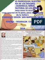Hojita Evangelio Domingo Xxxiii to a Color