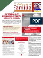 EL AMIGO DE LA FAMILIA domingo 16 noviembre 2014