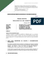 Resolución Nº 001– 2006 - Sunarp-tr-A