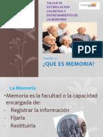 2 Sesion Taller Estimulacion Cognitiva y Entrenamiento de La Memoria
