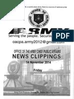 14 Nov 14 News Clippings