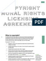 copyright lawlicensing agreementsmoral rights