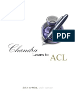 Chandra Learns to ACL -Scripting