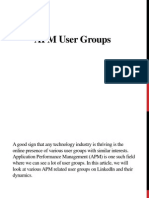 APM User Groups