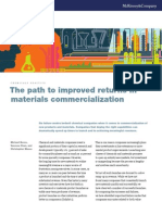 Path to Improved Returns in Material Commercialization