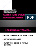 Water Tube Boiler in Textile Industry