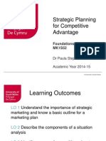 Strategic Planning and Competitive Advantage(1)