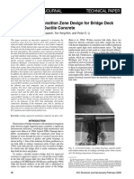 Introduction of Transition Zone Design for Bridge Deck Link Slabs Using Ductile Concrete