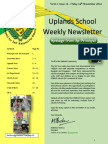 Uplands School Weekly Newsletter - Term 1 Issue 13 - 14 November 2014