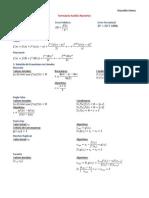 Formulario Análisis Numérico Primer Departamental