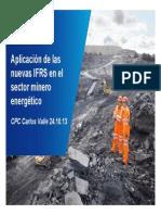Aplicación de Las IFRS en El Sector Minero Ernergético Carlos Valle