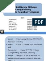 Windshield Survey Di Dusun Jurang Blimbing