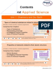 BTEC First AppliedScience Contents