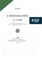 Manuel de l'amateur de jetons / par J. de Fontenay