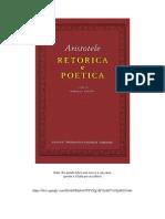 Aristotele Retorica e Poetica Utet