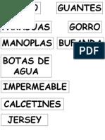 Tarjetas Con Nombres Separados Para Lectura Global Abrigo Lluvia