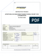 Pdt086 (Apertura de Desconectador Fusible en Mt Con Loadbuster)