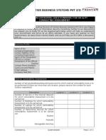 Information Gathering Questionnaire for VA & PT