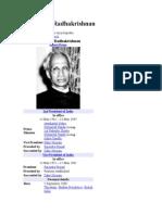 radhakrishnan wikipedia